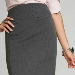 Express Dark Grey High Waisted Pencil Skirt